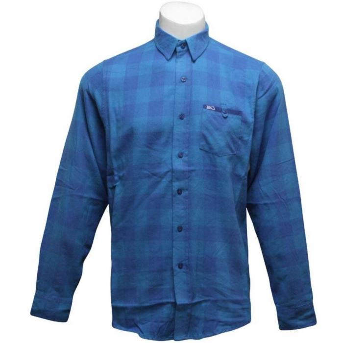 【海外限定】シャツ トゥルー 【 K1X HACKSAW JIM FLANELL SHIRT CYAN TRUE BLUE 】