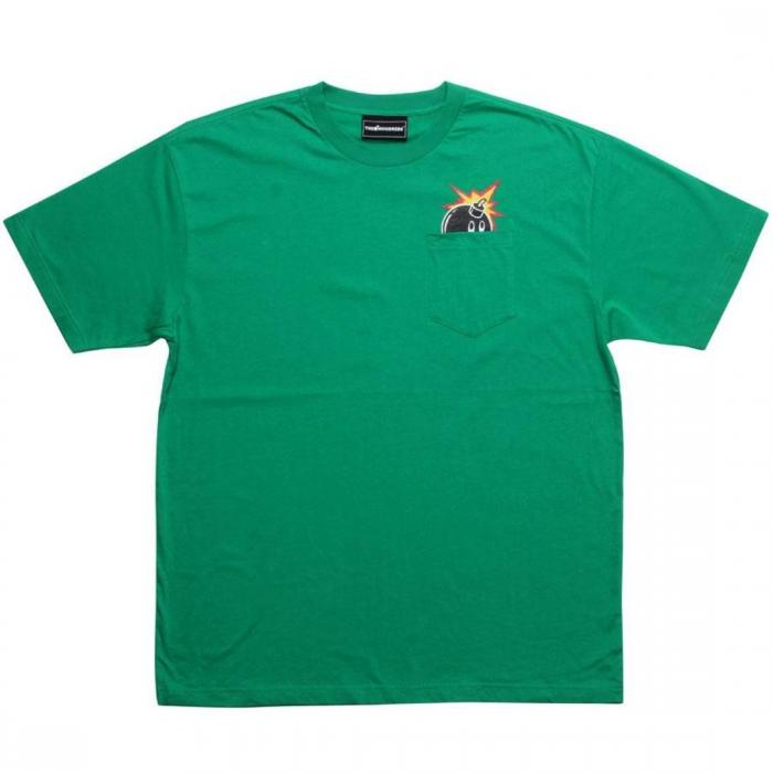 【海外限定】ピーク Tシャツ 【 THE HUNDREDS PEEK A BOO TEE GREEN 】