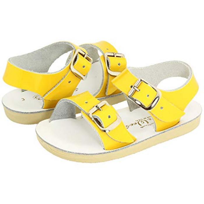 【エントリーで全商品ポイント10倍1/9 20:00-1/16 01:59迄】ソルト ウォーター サンダル シューズ 運動靴 シー シャイニー 黄色 イエロー ベビー 赤ちゃん用 靴 キッズ 【 YELLOW SALT WATER SANDAL BY HOY SHOES SUNSAN SEA WEES INFANT TODDLER SHINY 】