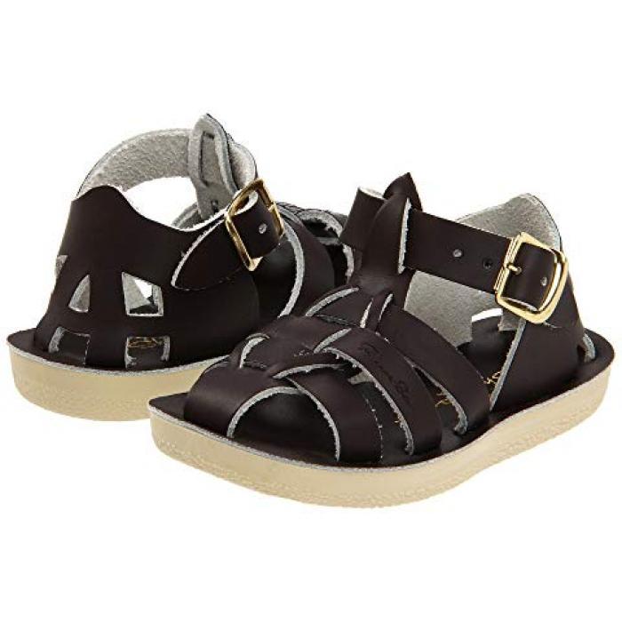【エントリーで全商品ポイント10倍1/9 20:00-1/16 01:59迄】ソルト ウォーター サンダル シューズ 運動靴 シャーク 茶 ブラウン 子供用 ビッグキッズ 靴 マタニティ 【 SALT WATER SANDAL BY HOY SHOES SUNSAN SHARKS TODDLER BROWN 】
