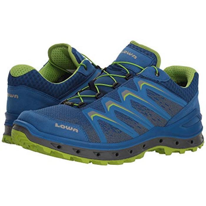 サラウンド メンズ 男性用 靴 【 LOWA AEROX GTX LO SURROUND ROYAL LIME 】