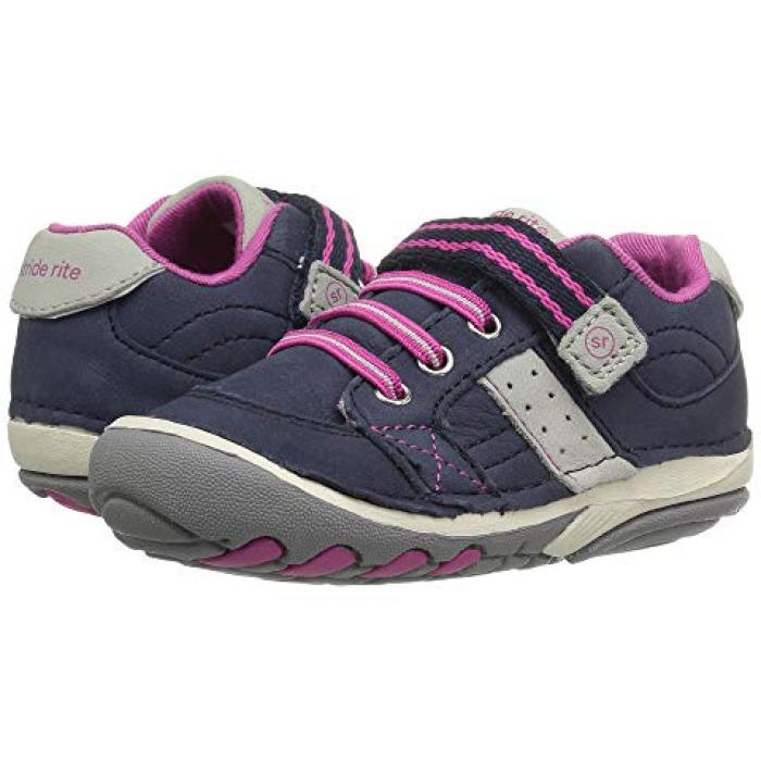 ソフト モーション ベビー 赤ちゃん用 ベビー靴 【 STRIDE RITE SRT SOFT MOTION ARTIE INFANT TODDLER NAVY PINK 】