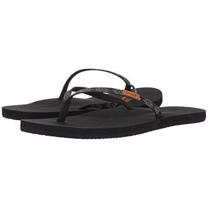 スリム ジンジャー ビーズ 黒 ブラック メンズ 男性用 靴 【 SLIM BLACK REEF GINGER BEADS 】