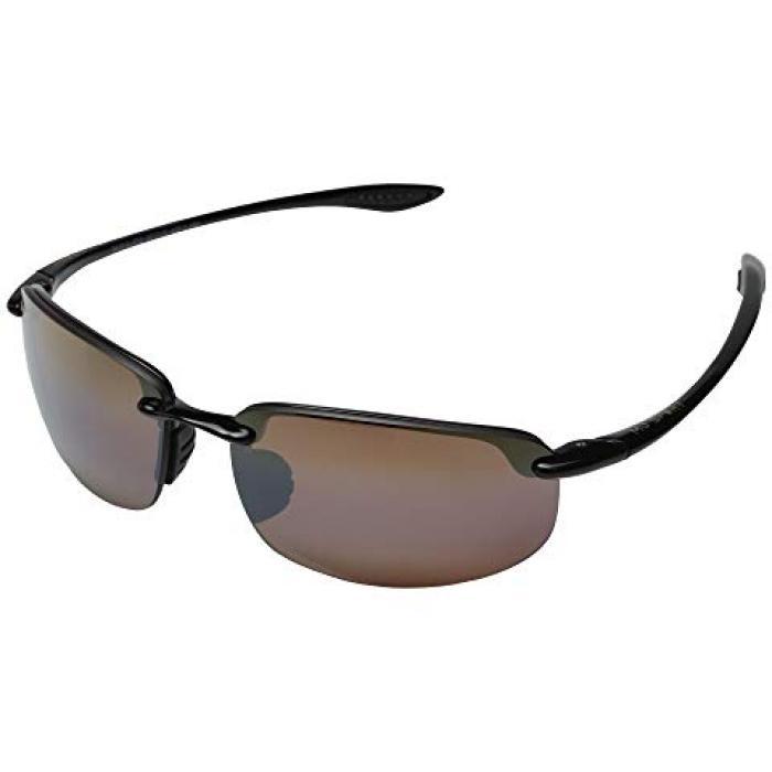 マウイ グロス 銅 ブロンズ レンズ HO'OKIPA メンズ 男性用 ブランド雑貨 眼鏡 【 MAUI JIM GLOSS BLACK HCL BRONZE LENS 】