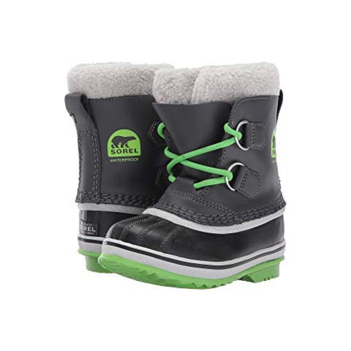 【エントリーで全商品ポイント10倍1/9 20:00-1/16 01:59迄】パックマン 緑 グリーン 子供用 リトルキッズ マタニティ 靴 【 GREEN SOREL KIDS YOOT PAC TP TODDLER SHARK CYBER 】