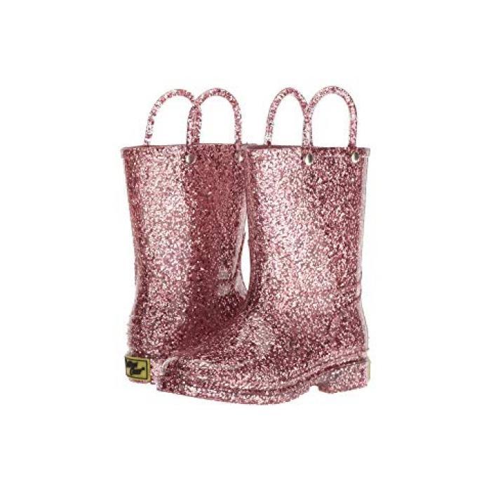 ウェスタン チーフ グリッター レイン ブーツ ローズ ゴールド 金 子供用 リトルキッズ 靴 【 ROSE WESTERN CHIEF KIDS GLITTER RAIN BOOTS TODDLER GOLD 】