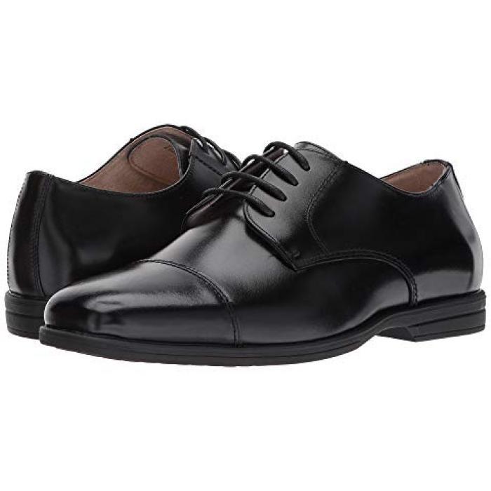 【エントリーで全商品ポイント10倍1/9 20:00-1/16 01:59迄】リビール キャップ 帽子 トー 黒 ブラック OX JR. 子供用 ビッグキッズ 靴 フォーマル靴 【 BLACK FLORSHEIM KIDS REVEAL CAP TOE TODDLER 】