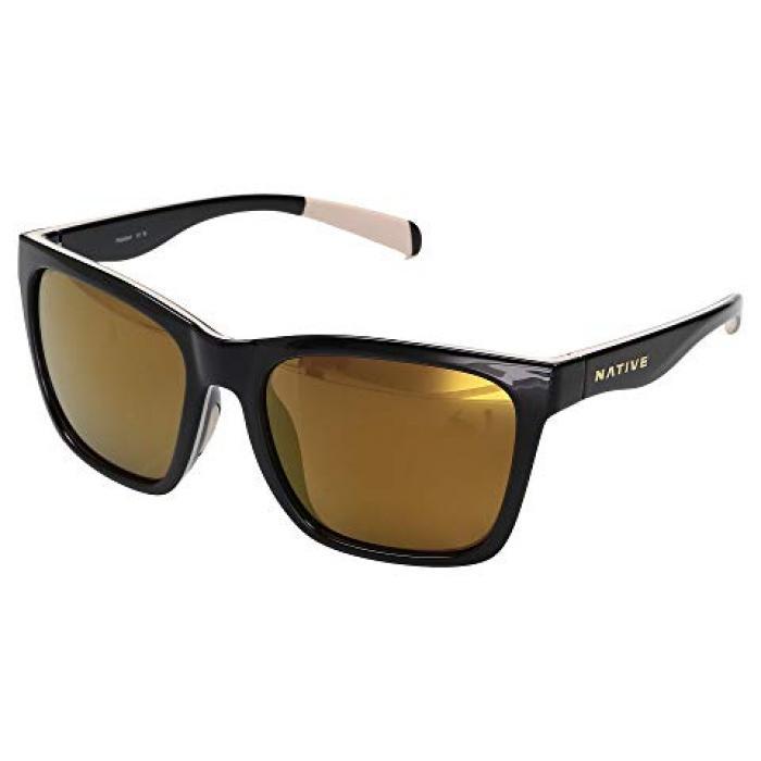 ネイティブ アイウェア グロス 黒 ブラック メンズ 男性用 眼鏡 ブランド雑貨 【 BLACK NATIVE EYEWEAR BRAIDEN GLOSS PALE PINK 】