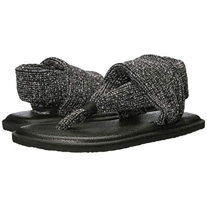 【エントリーで全商品ポイント10倍1/9 20:00-1/16 01:59迄】サヌーク サンダル ヨガ スリング 黒 ブラック 子供用 リトルキッズ キッズ 靴 【 SANUK BLACK KIDS LIL YOGA SLING KNITSTER 】