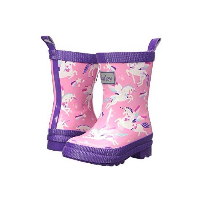 【エントリーで全商品ポイント10倍1/9 20:00-1/16 01:59迄】レインボー ユニコーン レイン ブーツ ピンク 子供用 リトルキッズ 靴 【 PINK HATLEY KIDS RAINBOW UNICORNS RAIN BOOTS TODDLER 】