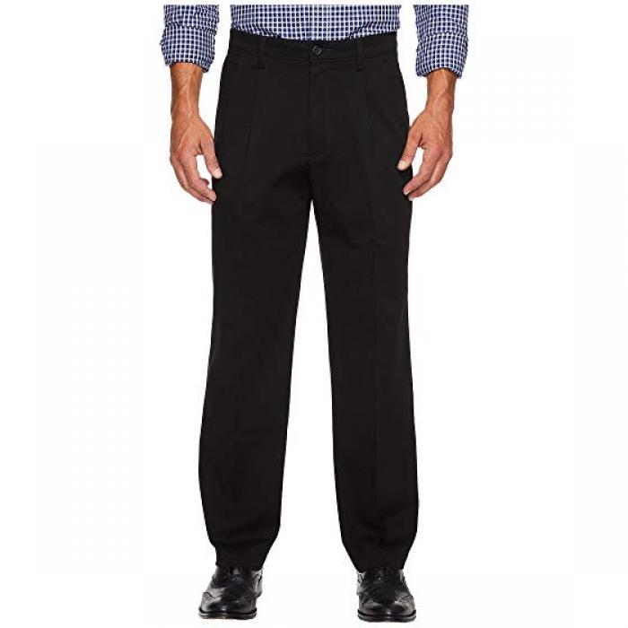 イージー カーキ クラシック フィット プリーツ パンツ 黒 ブラック メンズ 男性用 ズボン メンズファッション 【 BLACK DOCKERS EASY KHAKI D3 CLASSIC FIT PLEATED PANTS 】