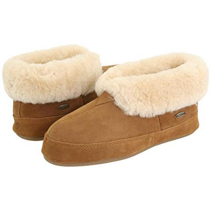 シープスキン ウォールナット レディース 女性用 レディース靴 【 ACORN SHEEPSKIN BOOTIE II WALNUT 】