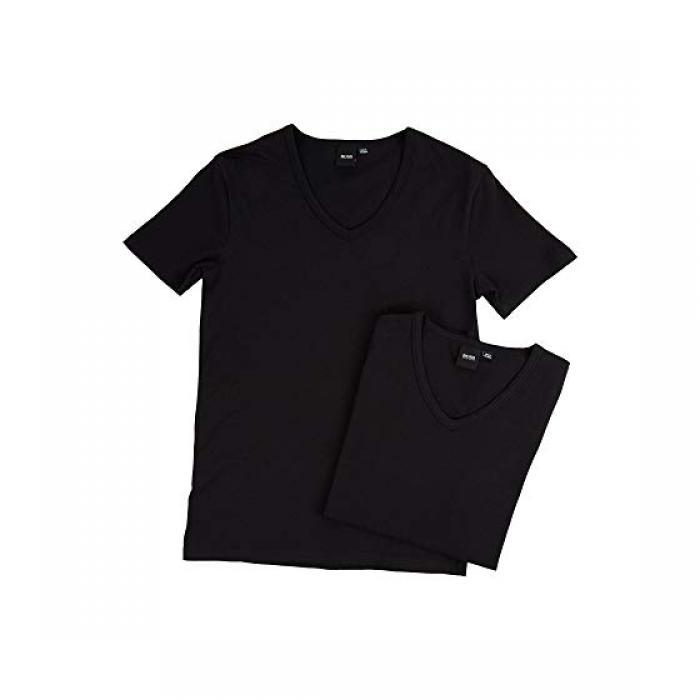 ボス ヒューゴ Tシャツ ブイネック 2パック 黒 ブラック メンズ 男性用 トップス メンズファッション 【 BLACK BOSS HUGO TSHIRT VNECK 2PACK CO EL 10194356 01 】