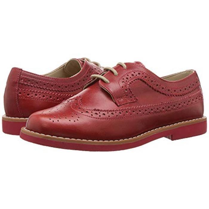 【エントリーで全商品ポイント10倍1/9 20:00-1/16 01:59迄】ブローグ 赤 レッド 子供用 ビッグキッズ フォーマル靴 ベビー 【 ELEPHANTITO BROGUE TODDLER RED 】