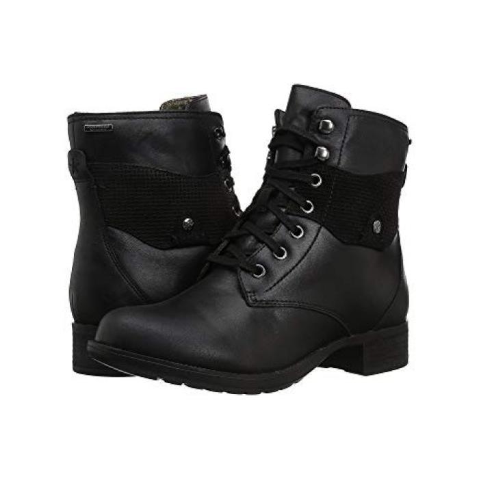 ウォータープルーフ 防水 レースアップ ブーツ 黒 ブラック レザー レディース 女性用 レディース靴 【 BLACK ROCKPORT COPLEY WATERPROOF LACEUP BOOT LEATHER 】