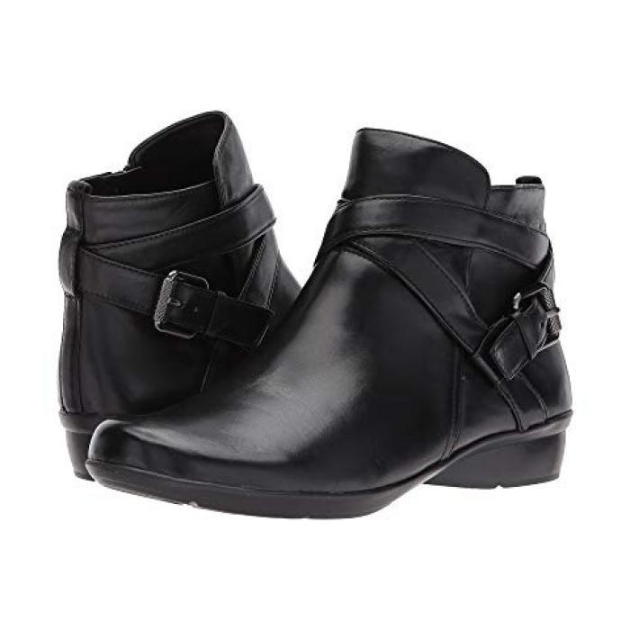 黒 ブラック レザー レディース 女性用 靴 【 BLACK NATURALIZER CASSANDRA LEATHER 】