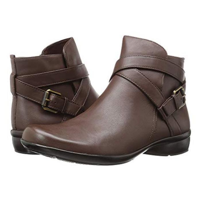茶 ブラウン レザー レディース 女性用 ブーツ 靴 【 NATURALIZER CASSANDRA BROWN LEATHER 】