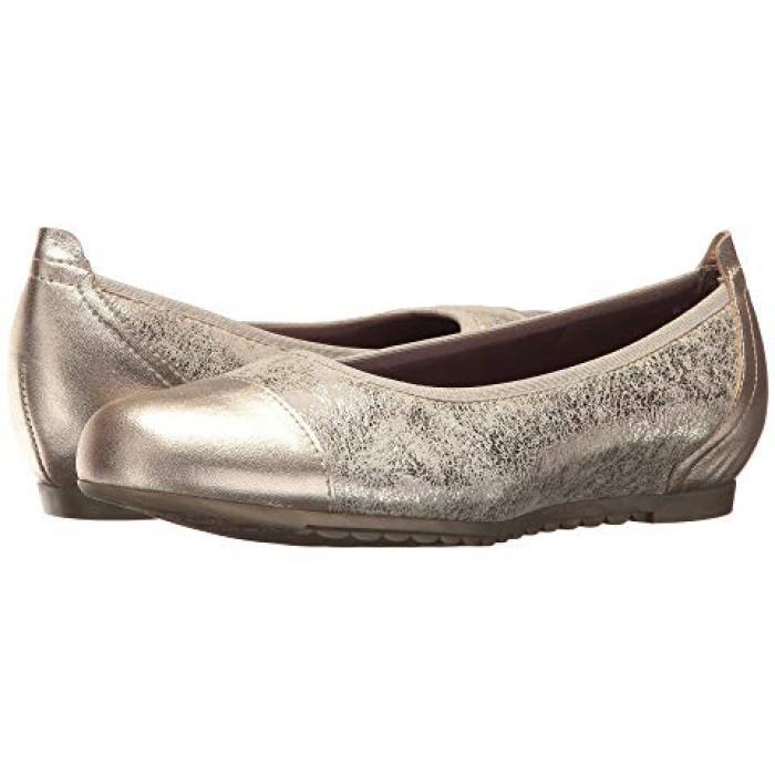 レザー レディース 女性用 靴 バレエシューズ レディース靴 【 MUNRO HENLEE BLACK WHITE FABRIC PEARL LEATHER 】