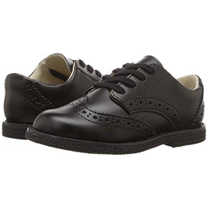 【エントリーで全商品ポイント10倍1/9 20:00-1/16 01:59迄】黒 ブラック 子供用 ビッグキッズ キッズ 靴 【 BLACK FOOTMATES LOGAN TODDLER 】