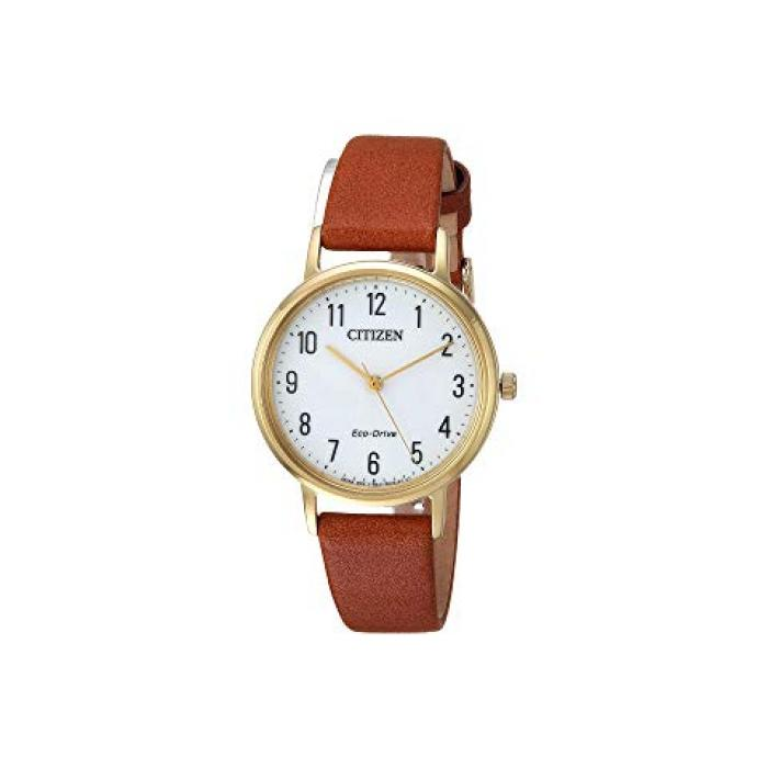 ウォッチ 時計 茶 ブラウン レディース 女性用 腕時計 レディース腕時計 【 CITIZEN WATCHES EM057205A ECODRIVE BROWN 】