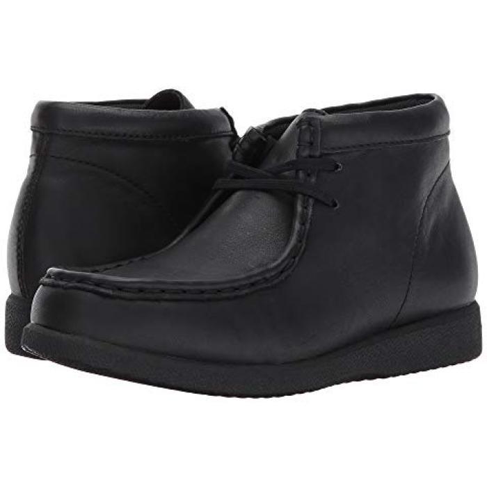 ブリッジポート 黒 ブラック レザー 子供用 リトルキッズ 靴 ブーツ 【 BLACK HUSH PUPPIES KIDS BRIDGEPORT III LEATHER 】