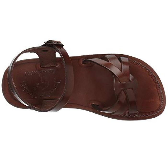 サンダル レディース 女性用 茶 ブラウン 靴 【 JERUSALEM SANDALS MIRIAM BROWN 】