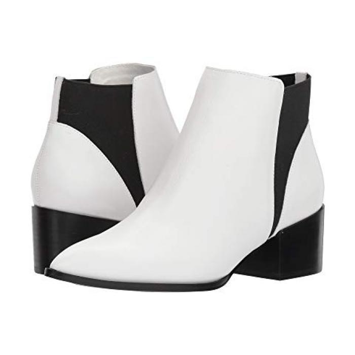 チャイニーズ ランドリー フィン 白 ホワイト スムース レザー レディース 女性用 靴 レディース靴 【 CHINESE LAUNDRY FINN BOOTIE WHITE SMOOTH LEATHER 】