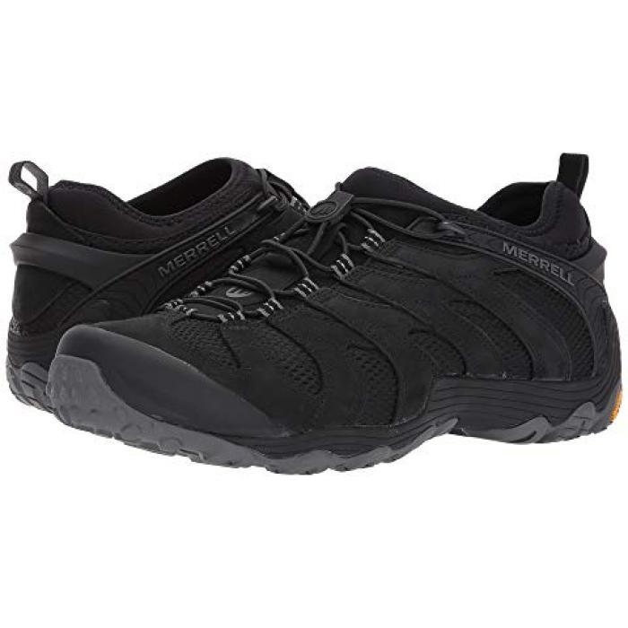 カメレオン ストレッチ 黒 ブラック メンズ 男性用 靴 【 BLACK MERRELL CHAMELEON 7 STRETCH 】