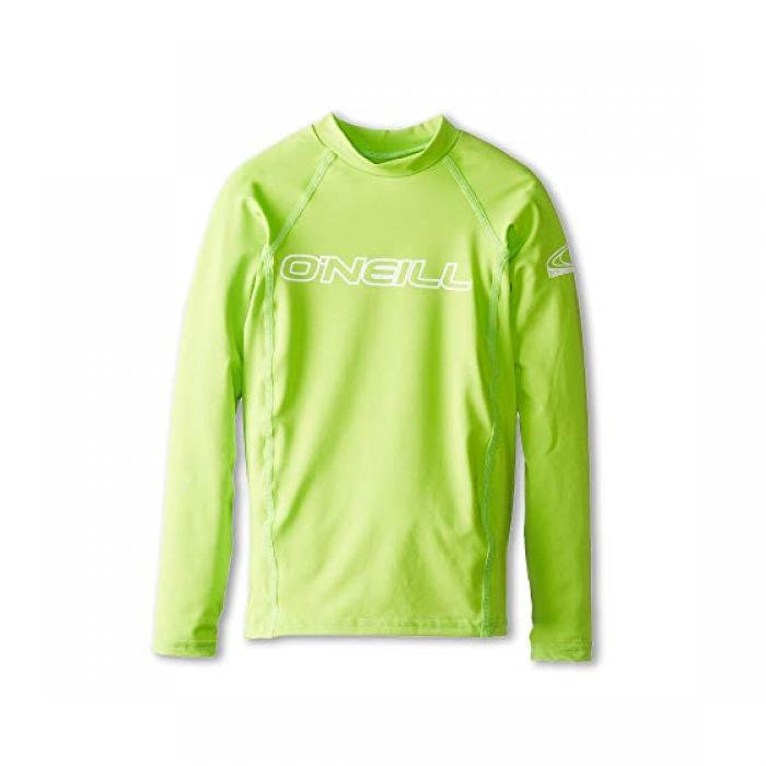 O'NEILL オニール ベーシック スキンズ 長袖 ロングスリーブ クルー ライム 子供用 リトルキッズ キッズ マタニティ 【 SKINS KIDS BASIC L S CREW LIME 】