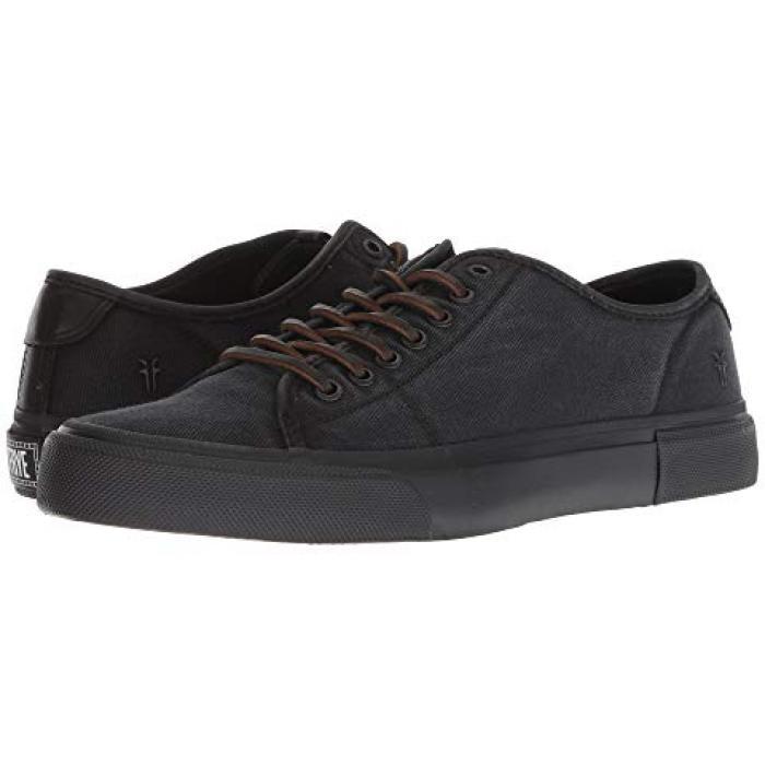 フライ ロー 黒 ブラック キャンバス メンズ 男性用 靴 【 BLACK FRYE LUDLOW LOW DIPDYE CANVAS 】