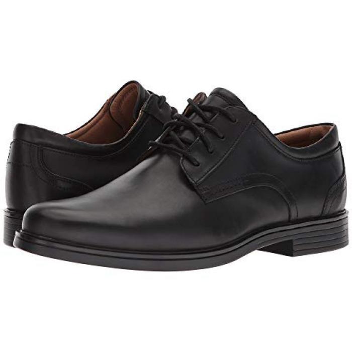 クラークス レース 黒 ブラック レザー メンズ 男性用 ビジネスシューズ メンズ靴 【 BLACK CLARKS UN ALDRIC LACE LEATHER 】
