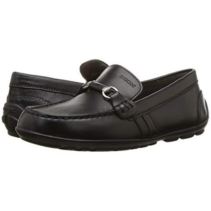 【エントリーで全商品ポイント10倍1/9 20:00-1/16 01:59迄】ファスト 黒 ブラック オックスフォード 子供用 リトルキッズ キッズ 靴 【 BLACK GEOX KIDS FAST 3 OXFORD 】