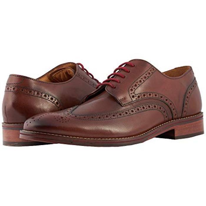 オックスフォード コニャック スムース メンズ 男性用 靴 ビジネスシューズ 【 FLORSHEIM SALERNO WINGTIP OXFORD COGNAC SMOOTH 】