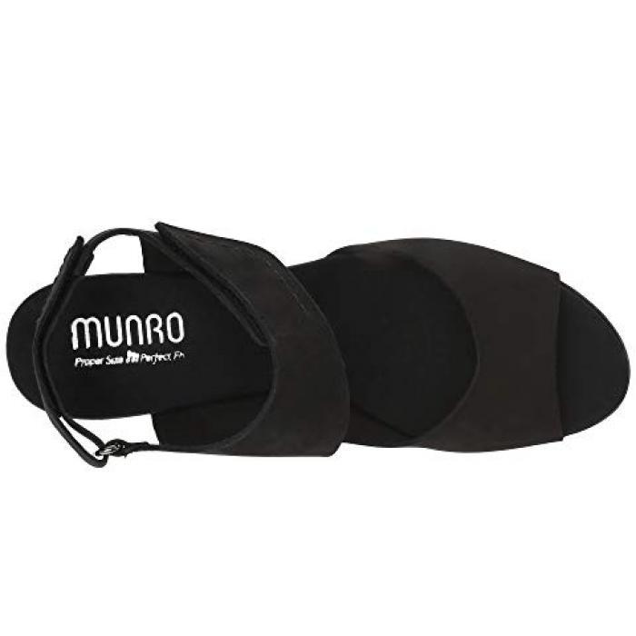 黒 ブラック ヌバック レディース 女性用 靴 【 BLACK MUNRO FABIANA NUBUCK 】