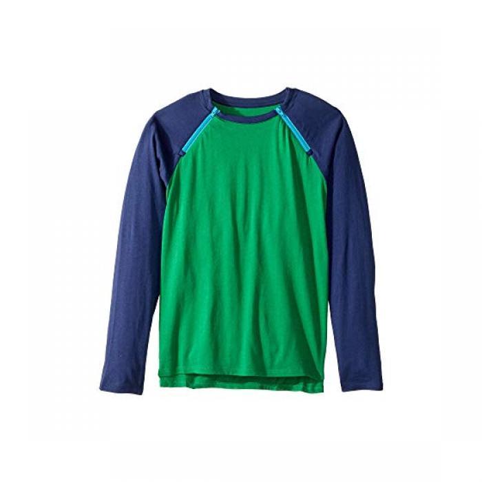 チェスト アクセス Tシャツ シャツ ジャングル 青 ブルー CARE+WEAR 子供用 リトルキッズ キッズ 【 BLUE CHEST ACCESS TEE SHIRT JUNGLE GREEN NAVY 】