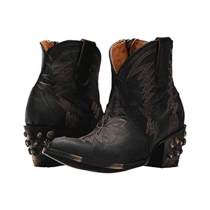 オールドベリー ショーツ ハーフパンツ 黒 ブラック レディース 女性用 ブーツ 【 BLACK OLD GRINGO MOREEN SHORT 】