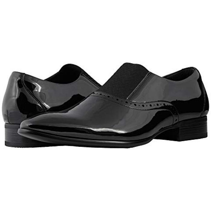 アダムス バレ 黒 ブラック パテント レディース 女性用 靴 ローファー 【 BLACK STACY ADAMS VALE PATENT 】