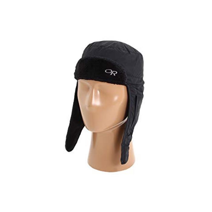 アウトドア ハット 黒 ブラック メンズ 男性用 小物 ブランド雑貨 【 BLACK OUTDOOR RESEARCH FROSTLINE HAT 】