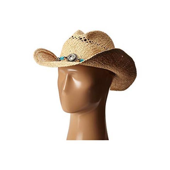 ウェスタン M&F レディース 女性用 麦わら帽子 バッグ 【 WESTERN 71040 BEAD CRYSTAL 】