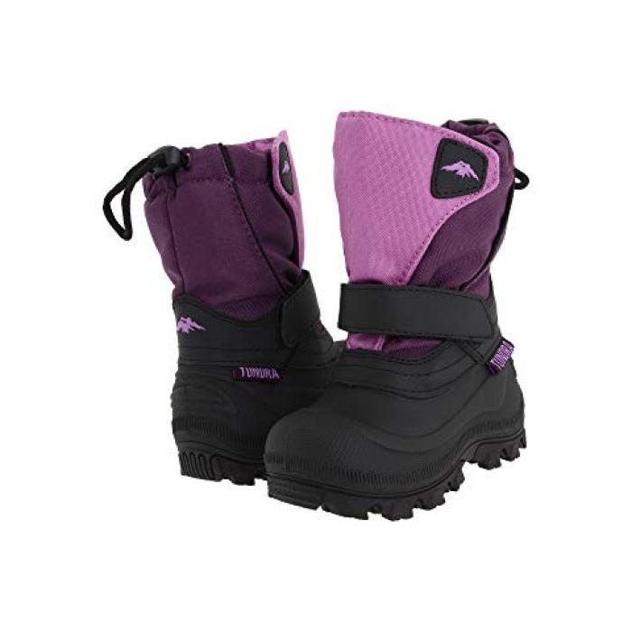 【エントリーで全商品ポイント10倍1/9 20:00-1/16 01:59迄】ブーツ ワイド 紫 パープル 子供用 ビッグキッズ 靴 【 PURPLE TUNDRA BOOTS KIDS QUEBEC WIDE TODDLER 】