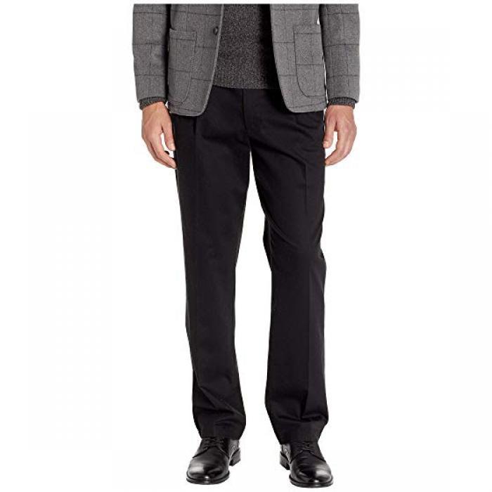 クラシック フィット シグネイチャー カーキ ルクス コットン ストレッチ パンツ プリーツ 黒 ブラック メンズ 男性用 メンズファッション ズボン 【 BLACK DOCKERS CLASSIC FIT SIGNATURE KHAKI LUX COTTON