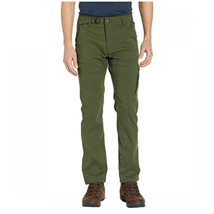 ストレッチ ストレート パンツ 緑 グリーン メンズ 男性用 メンズファッション ズボン 【 GREEN PRANA STRETCH ZION STRAIGHT PANTS NORI 】