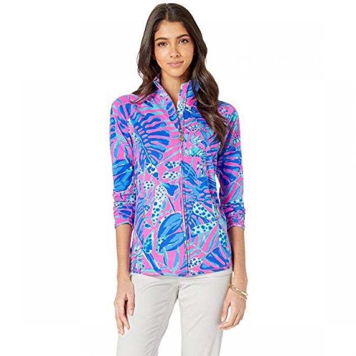 リリー セレナ ジャケット ガーデン レディース 女性用 【 LILLY PULITZER LUXLETIC SERENA JACKET BOUGAINVILLE CLIFFSIDE GARDEN 】