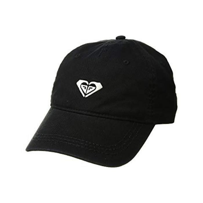 ロキシー ディア ロゴ ベースボール キャップ 帽子 トゥルー 黒 ブラック レディース 女性用 小物 【 ROXY BLACK DEAR BELIEVER LOGO BASEBALL CAP TRUE 】