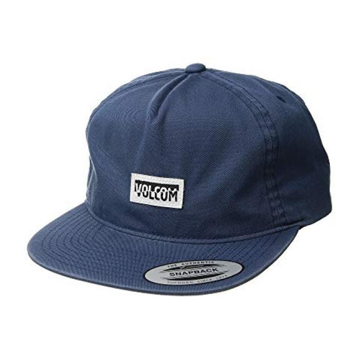 ボルコム キャップ 帽子 ディープ 青 ブルー メンズ 男性用 メンズ帽子 【 VOLCOM BLUE FRACTURE CAP DEEP 】
