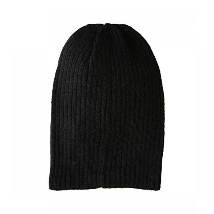 ハット アタック ライトウェイト リブ ウォッチ 時計 キャップ 帽子 黒 ブラック レディース 女性用 【 WATCH BLACK HAT ATTACK LIGHTWEIGHT RIB CAP 】