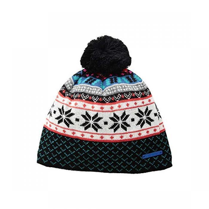 フェア キャップ 帽子 黒 ブラック レディース 女性用 バッグ レディース帽子 【 BLACK BULA FAIR ISLE BEANIE 】