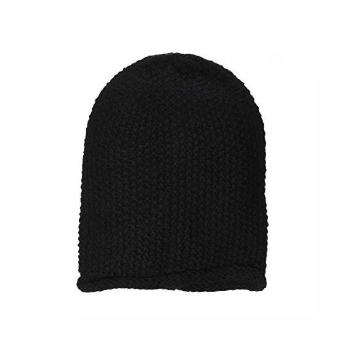 レベッカ シンプル ソリッド キャップ 帽子 黒 ブラック レディース 女性用 レディース帽子 ニット帽 【 SOLID BLACK REBECCA MINKOFF SIMPLE SLOUCHY BEANIE 】