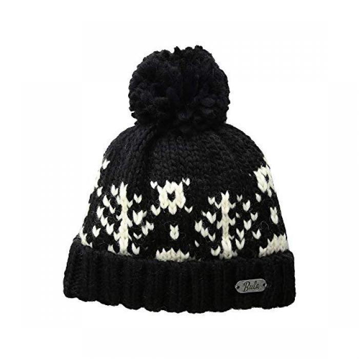 ツリー キャップ 帽子 黒 ブラック レディース 女性用 ニット帽 バッグ 【 BLACK BULA TREE BEANIE 】