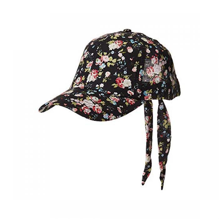 サン ディエゴ ハット カンパニー フローラル ボール キャップ 帽子 黒 ブラック レディース 女性用 ブランド雑貨 【 BLACK SAN DIEGO HAT COMPANY CTH4161 FLORAL BALL CAP 】
